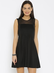 Van Heusen Woman Black Skater Dress