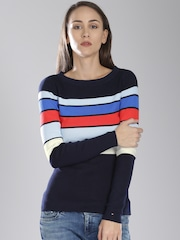 Tommy Hilfiger Navy Striped Sweater