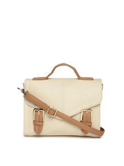 Mast & Harbour Beige Satchel