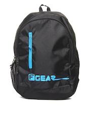 F Gear Unisex Black & Blue Bi-Frost Casual Backpack