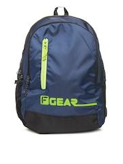 F Gear Unisex Navy & Green Bi Frost Casual Backpack