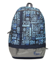 F Gear Unisex Casual Blue Printed Backpack