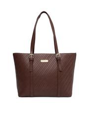 CORSICA Brown Textured Shoulder Bag