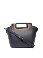 CORSICA Navy Handbag with Sling Strap