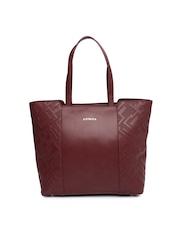 CORSICA Burgundy Textured Oversized Shoulder Bag
