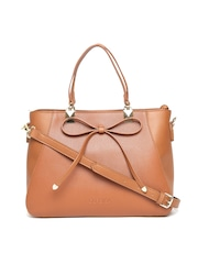 CORSICA Tan Brown Handbag with Sling Strap