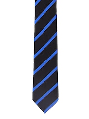 Tossido Black & Blue Striped Tie