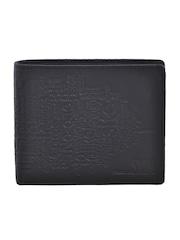 Second SKIN Men Black Embossed Genuine Leather Wallet