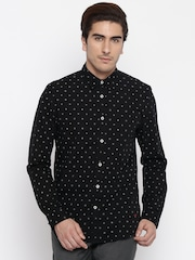 Jack & Jones Black Printed Casual Shirt