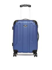 Pronto Unisex Blue Spinner Trolley Suitcase