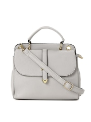DressBerry Grey Textured Satchel