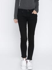 Pepe Jeans Women Black Lola Slim Fit Mid-Rise Clean Look Jeans