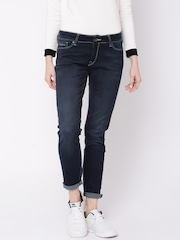 Pepe Jeans Women Blue Mid-Rise Clean Look Jeans