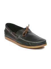 Knotty Derby Men Black Solid Quody Loafers