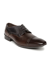 Knotty Derby Men Brown Perforated Semiformal Brogues