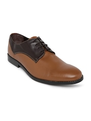Knotty Derby Men Brown Colourblocked Derby Shoes