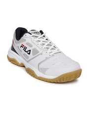 FILA Men White Top Spin Tennis Shoes