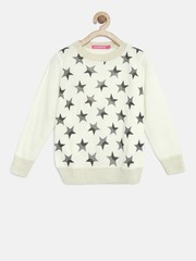 Wingsfield Girls Off-White Star Print Sweater