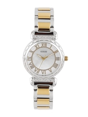 GUESS Women Cream-Coloured Dial Watch W0831L3