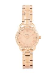 GUESS Women Rose Gold-Toned Dial Watch W0837L3