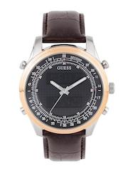 GUESS Men Grey & Black Printed Analogue & Digital Watch W0861G1