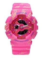 Casio Baby-G Women Pink Printed Analogue & Digital Multifunction Watch BX072