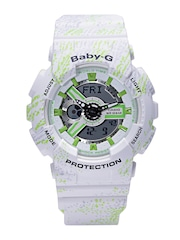 Casio Baby-G Women White Printed Analogue & Digital Multifunction Watch BX073