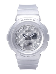 Casio Baby-G Women Silver-Toned Analogue & Digital Multifunction Watch BX077