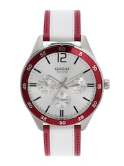 CASIO Enticer Men Silver-Toned Multifunction Dial Watch A1182