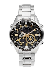 CASIO Edifice Men Gunmetal-Toned Multifunction Analogue & Digital Watch
