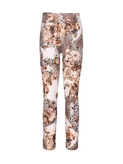 CUTECUMBER Girls Brown Printed Leggings
