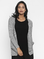 Pepe Jeans Black and White Patterned Front-Open Sweater