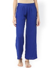 Jaipur Kurti Women Blue Solid Palazzo Trousers