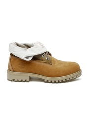 Timberland Men Tan Brown Mid-Top Leather Boots