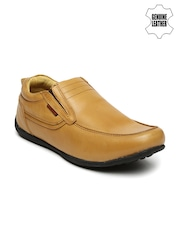 Red Chief Men Tan Brown Genuine Leather Semiformal Slip-Ons