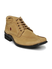 Red Chief Men Beige Derby Casual Shoes