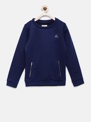 Elle Kids Girls Navy Patterened Sweatshirt