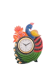eCraftIndia White Dial Handcrafted Analogue Wall Clock