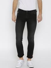 John Players Men Black Skinny Fit Low Rise Clean Look Jeans