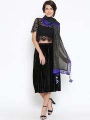 Grishti Black & Blue Shimmer Stole