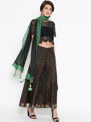 Grishti Black & Green Shimmer Stole
