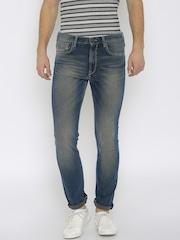 Lee Men Blue Macky Regular Tapered Jeans