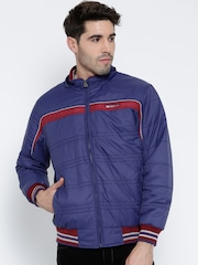 Monte Carlo Blue Bomber Jacket with Detachable Hood