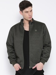 Monte Carlo Olive Green Quilted Bomber Jacket