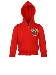StyleStone Girls Red Hooded Jacket