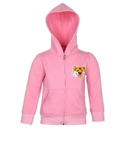 StyleStone Girls Pink Hooded Jacket