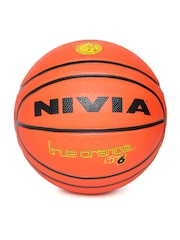 NIVIA Unisex Orange True Printed Basketball