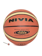 NIVIA Unisex Rust Orange Pro Touch Printed Basketball
