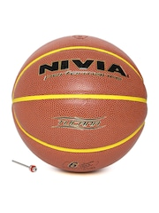 NIVIA Unisex Rust Brown Tucana Printed Basketball