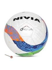 NIVIA Dhanush Unisex White Printed Football